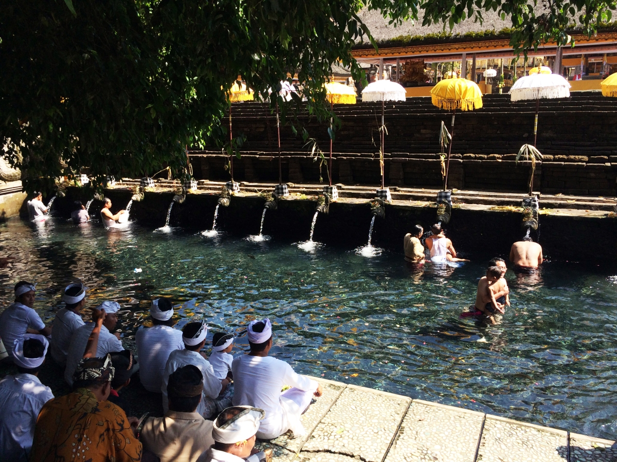 Sacred healing springs of Tirta Empul Temple