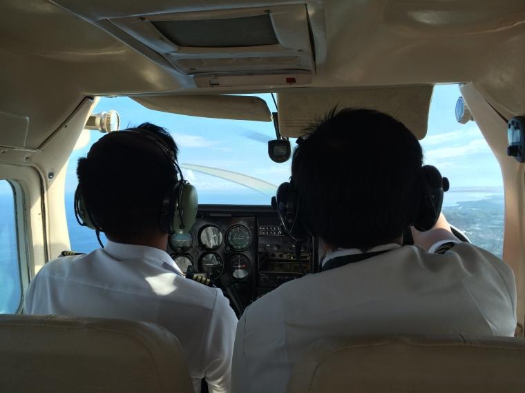Capt Emmanuel Cabral and co-pilot.JPG