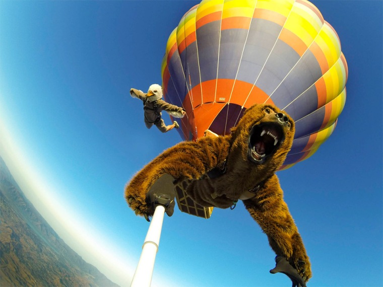 Bear Jump GoPro Selfie