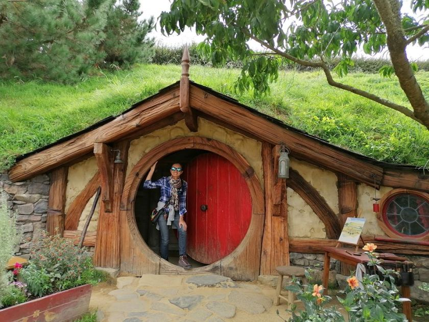 Sarah in Hobbit hole